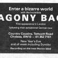 Agony Bag First Appearance in London ad