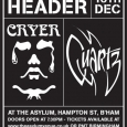 Cryer Quartz reunion gig poster