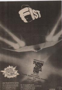 Fist - Turn The Hell On advertisement