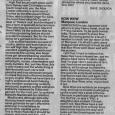 High Risk Kerrang! review 1981