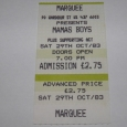 Mama's Boys Marquee 1983