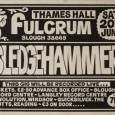 Sledgehammer hometown gig poster